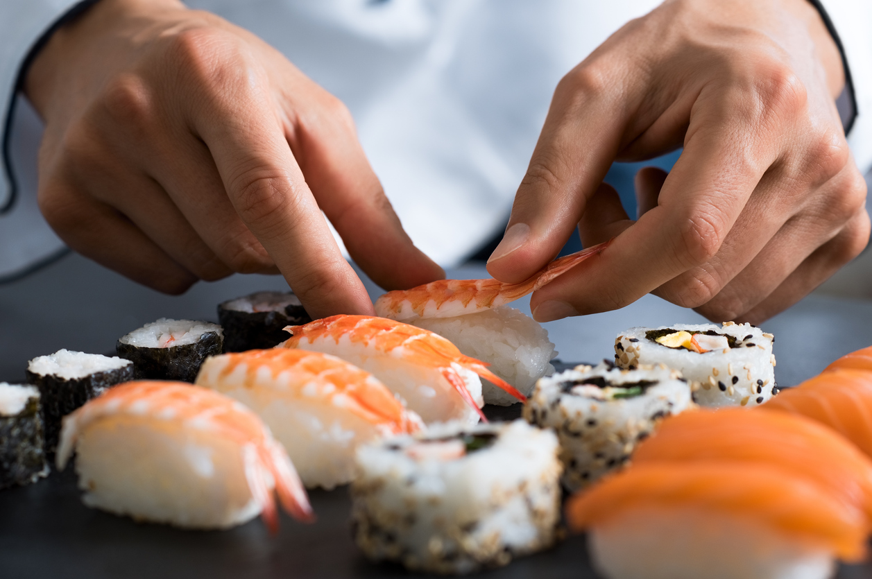 Chef preparing sushi from one of the top restaurants in Omaha