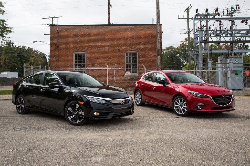 2016 Honda Civic Mazda3 S Omaha